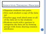 inductive thinking process