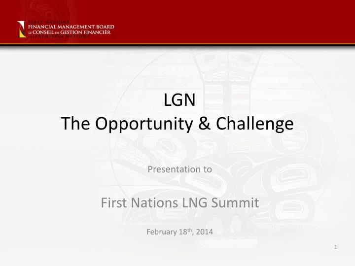 lgn the opportunity challenge n.
