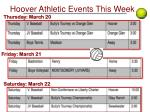 hoover athletic events this week1