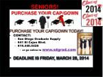 seniors purchase your cap gown