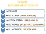 5 ways management conflic