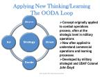 applying new thinking learning the ooda loop