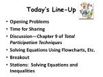 today s line up