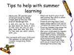 tips to help with summer learning