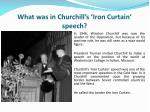 what was in churchill s iron curtain speech