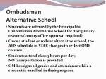ombudsman alternative school