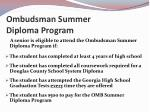 ombudsman summer diploma program
