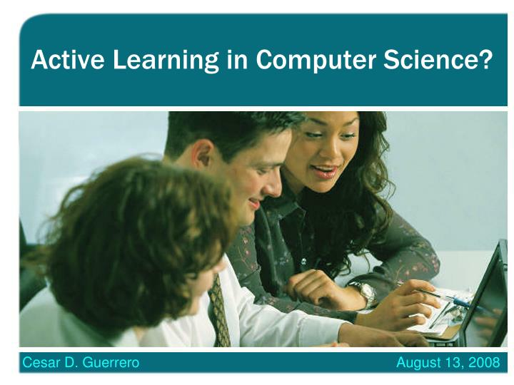 active learning in computer science n.