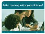 active learning in computer science