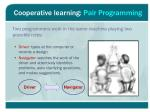 cooperative learning pair programming