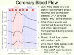 coronary blood flow
