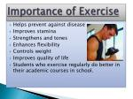 importance of exercise