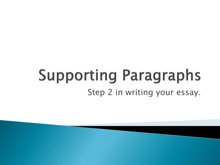 supporting paragraphs n.