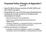 proposed policy changes of appendix f continued1
