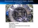 electrostatic quadrupole triplet elena prototype