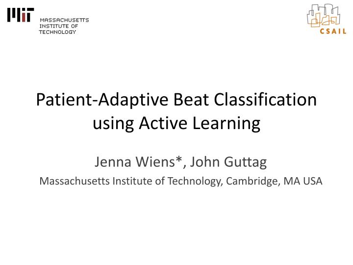 patient adaptive beat classification using active learning n.