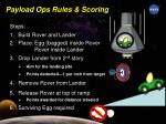 payload ops rules scoring1