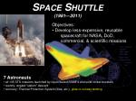space shuttle 1981 2011