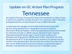update on gc action plan progress tennessee