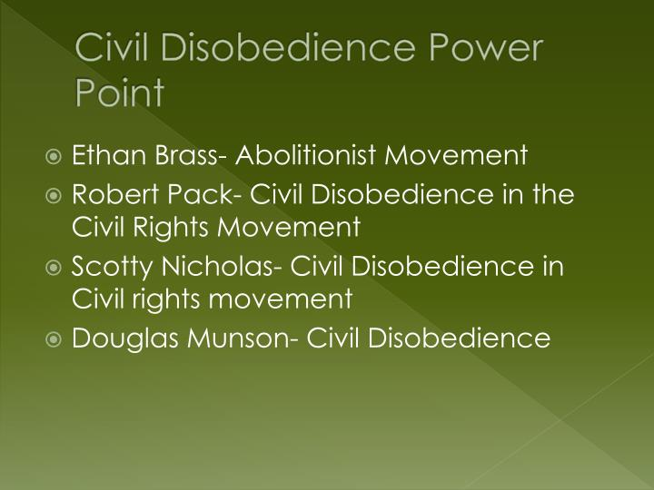 civil disobedience p ower point n.
