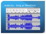 audacity song as waveform