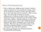 what the experts say1