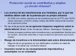 protecci n social no contributiva y empleo o c rculo virtuoso