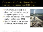 command and control regulation example proposed coal ghg regs