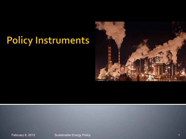 policy instruments n.