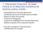 1 informaci n financiera un papel central en el desarrollo econ mico de am rica latina y caribe