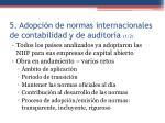 5 adopci n de normas internacionales de contabilidad y de auditor a 1 2