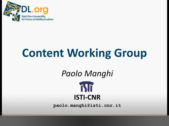 content working group n.