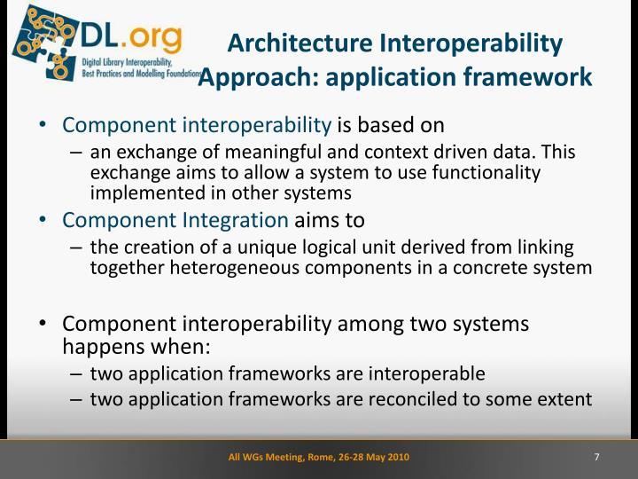 Architecture Interoperability Approach: