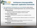 architecture interoperability approach application framework2