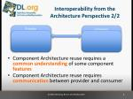 interoperability from the architecture perspective 2 2