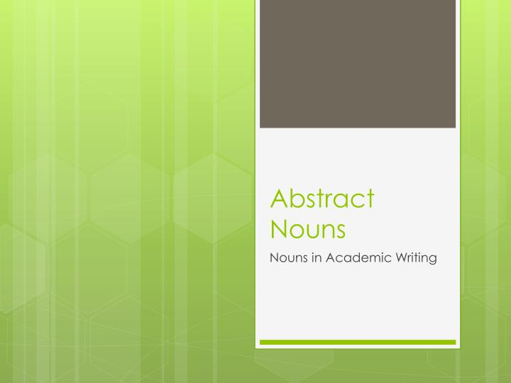 abstract nouns n.