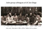 solar group colleagues at uc san diego