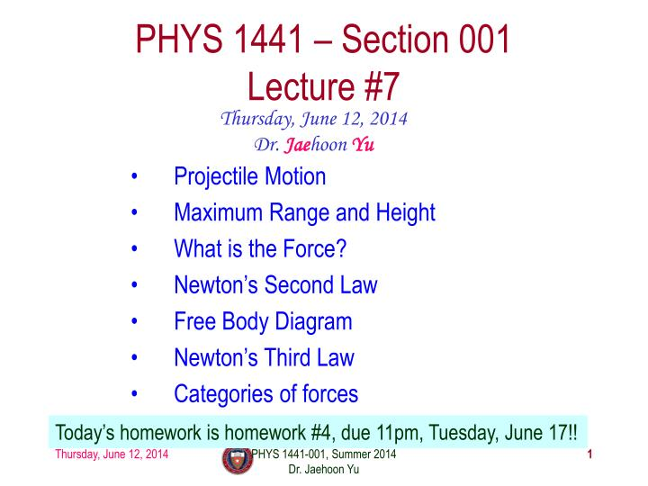 phys 1441 section 001 lecture 7 n.