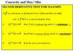 concavity and max min
