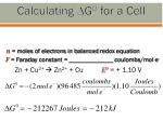 calculating g 0 for a cell
