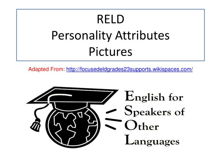 reld personality attributes pictures n.