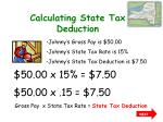 calculating state tax deduction