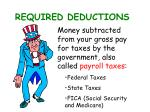 required deductions