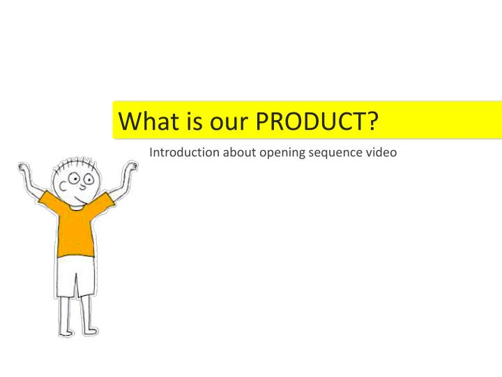 What is our PRODUCT?