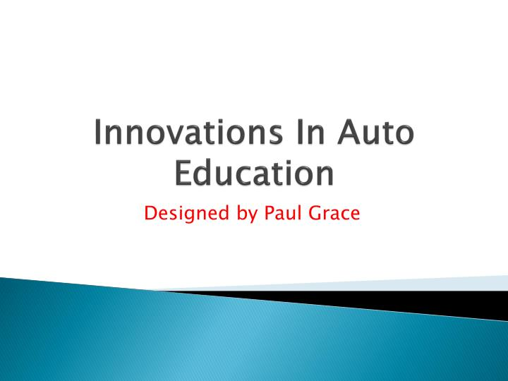 innovations in auto education n.