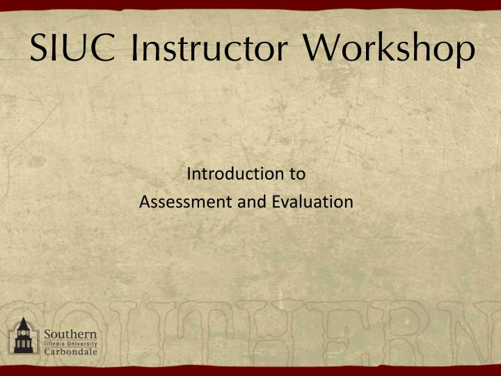 siuc instructor workshop n.