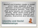 identity and social relationships