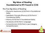 big ideas of reading foundational to rti found in ccss