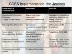 ccss implementation the journey
