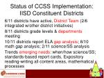 status of ccss implementation iisd constituent districts